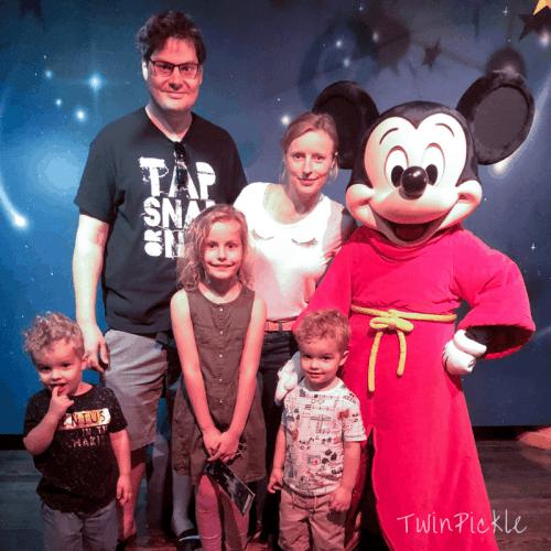 Meeting Mickey at Disneyland