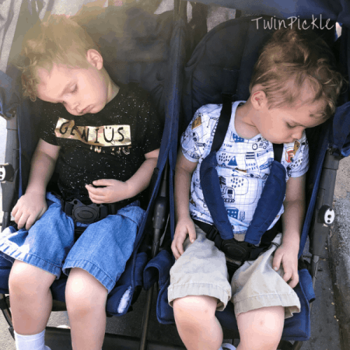 Napping in the Stroller at Disney