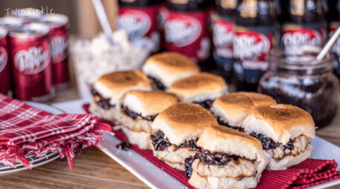 Cherry Chutney Pork Slider for Tailgater Party