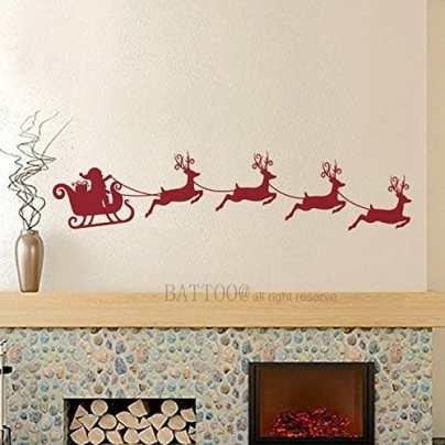 Santa's Sleigh Decal - Amazon