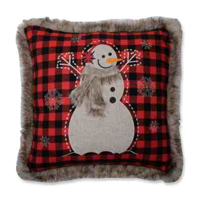 Snowman Holiday Pillow