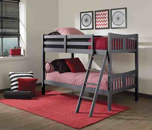 Storkcraft Caribou Gray Bunk Beds
