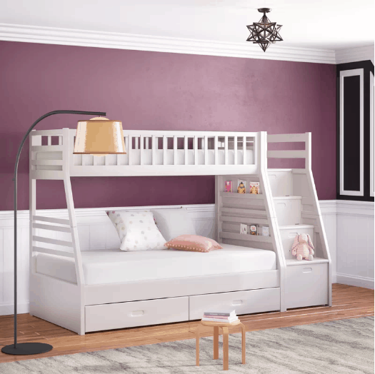 Viv Rae Pierre Twin over Full Bunk with Storage