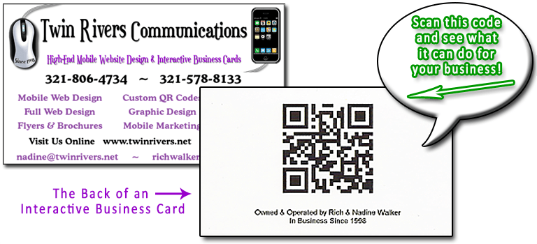 Interactive business cards twin rivers communications interactive business cards reheart Images