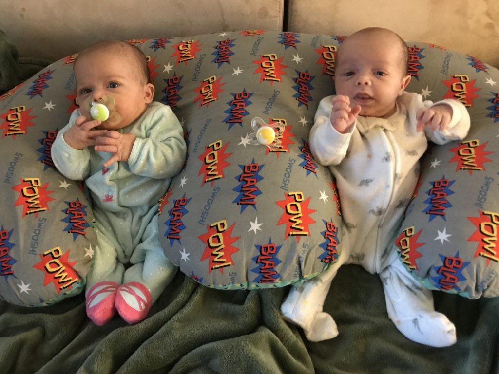 happy twins in twin z