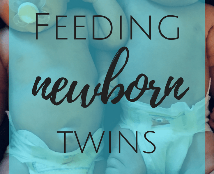Feeding Newborn Twins at the Same Time from a New Twin Mom