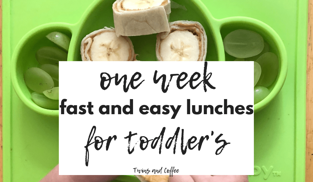 list of seven easy toddler friendly lunches twins and coffee