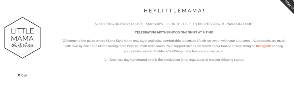 Shop small this holiday season with Little Mama Shirt Shop