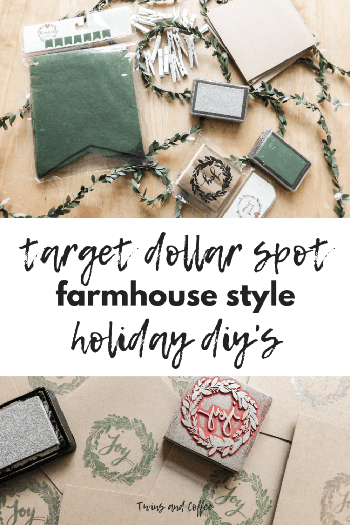 farmhouse style target dollar spot holiday diys