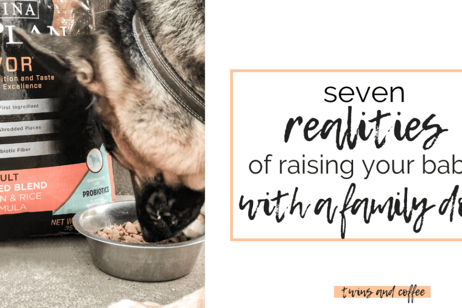 Raising your baby with a family dog will bring up a whole lot of questions and new realities. There are a lot of things you wouldn't expect when raising your baby with a family dog. Here are seven realities of your baby growing up with a family dog. #ad #proplanprobiotic @petsmart @purina