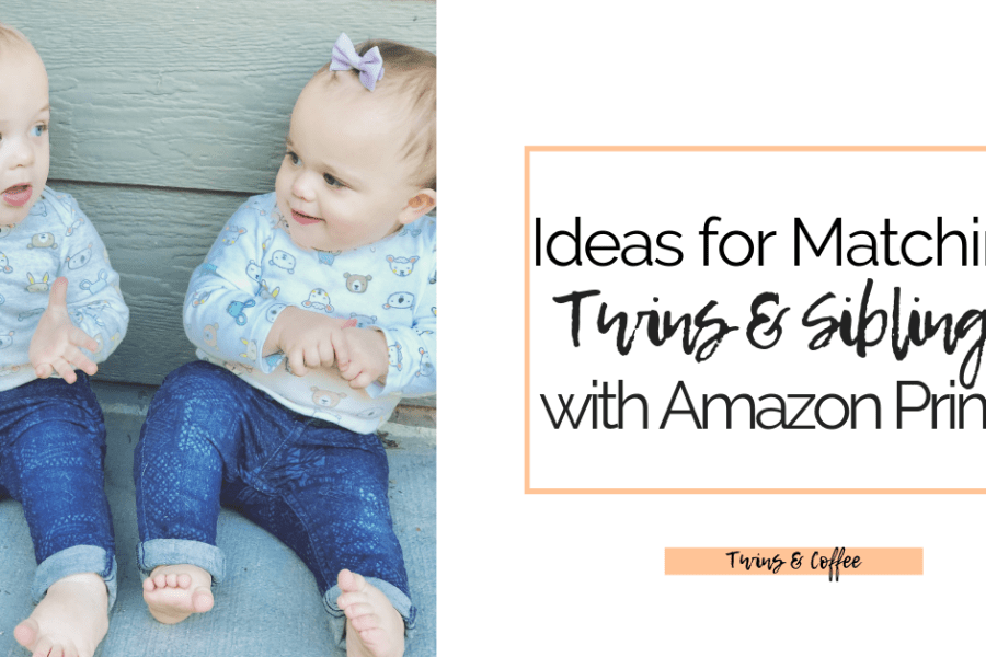 Outfit ideas for twins and siblings of different genders including gender neutral outfit ideas all from Amazon.