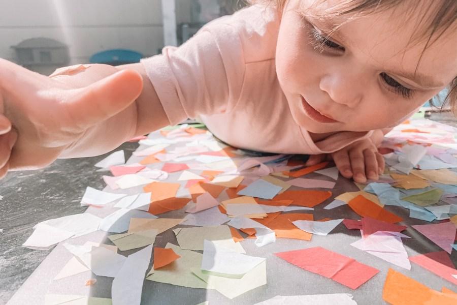tissue paper toddler craft diy