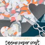 tissue paper toddler craft diy