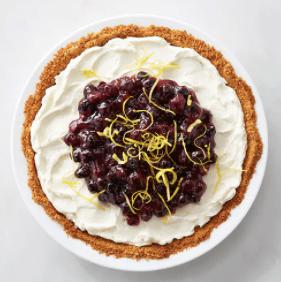 Lemon Cream Pie with Blueberry Sauce