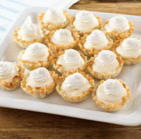 Lemon Cream and Raspberry Pie Bites