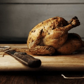 Roast Chicken with Maple-Pumpkin Glaze