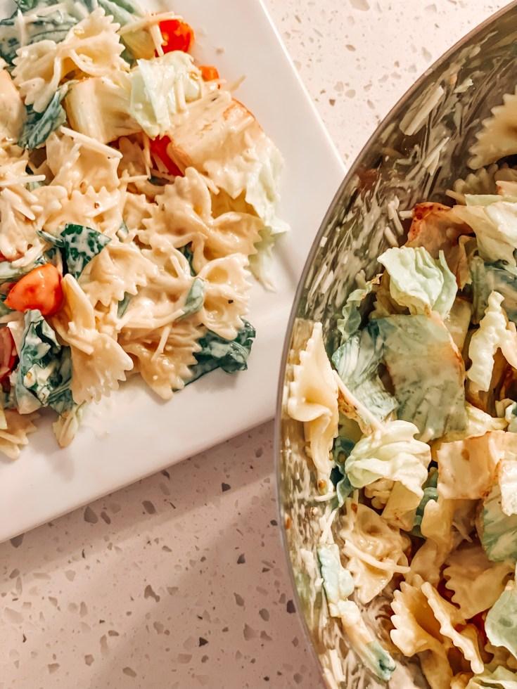 easy caesar pasta salad recipe