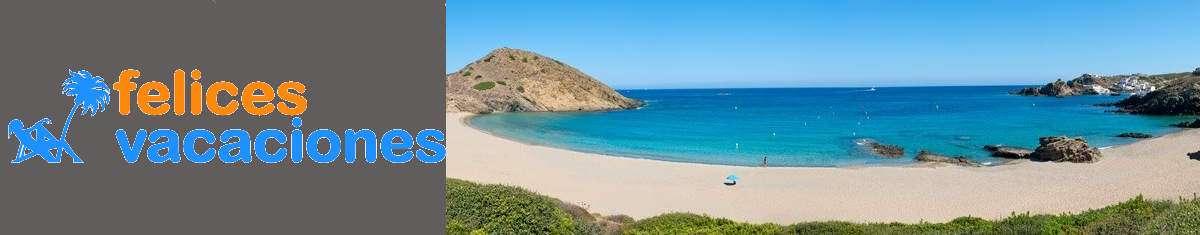 Felices vacaciones en Menorca, playa cala Mesquida