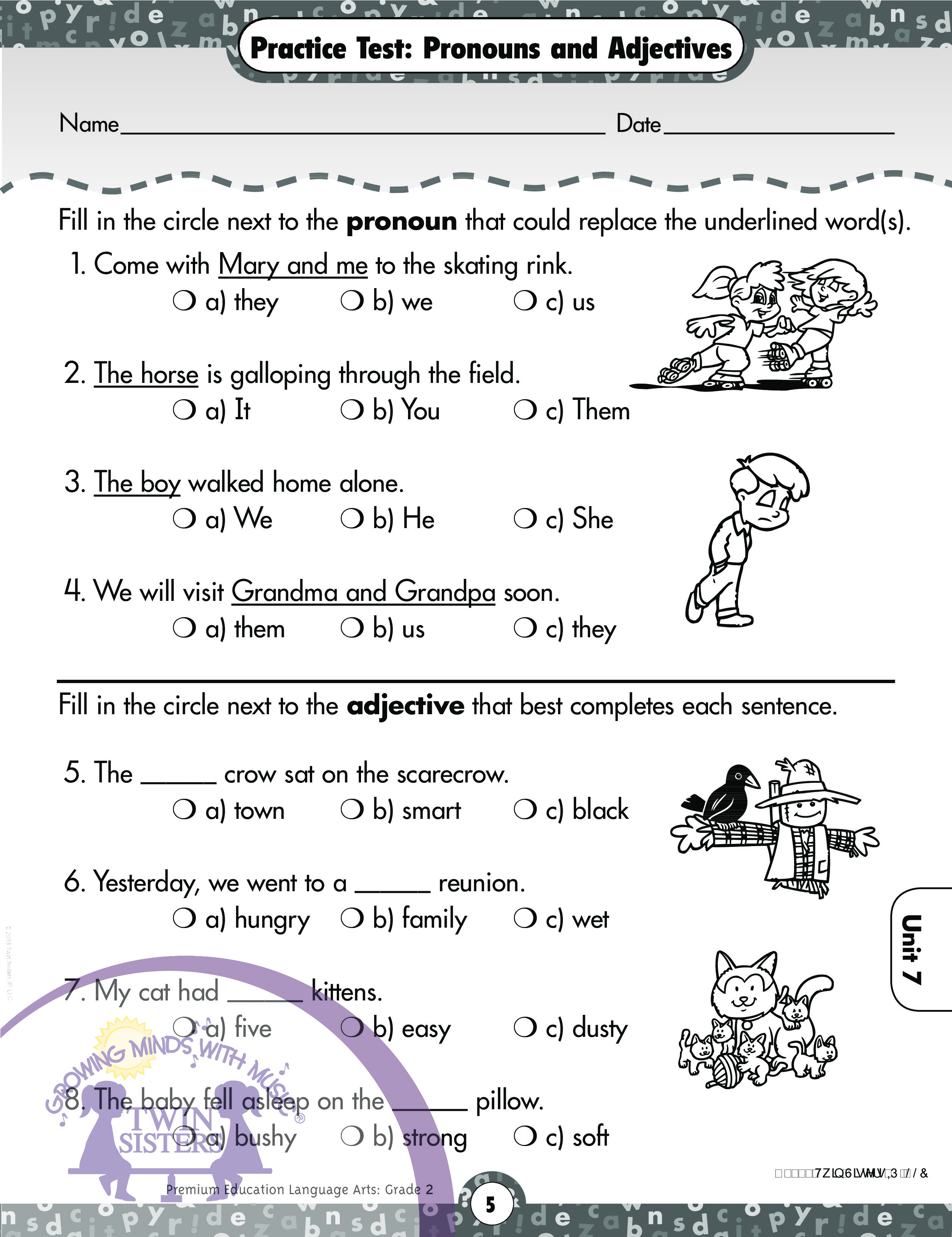 Language Arts Grade 2 Comprehensive Skills Practice Test