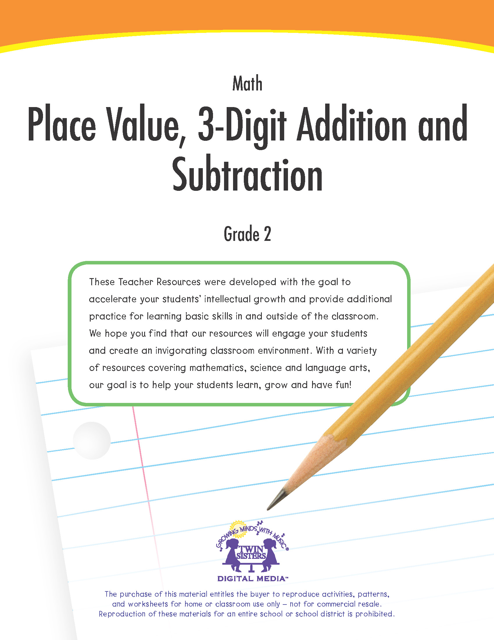 Math Grade 2 Place Value 3 Digit Addition And