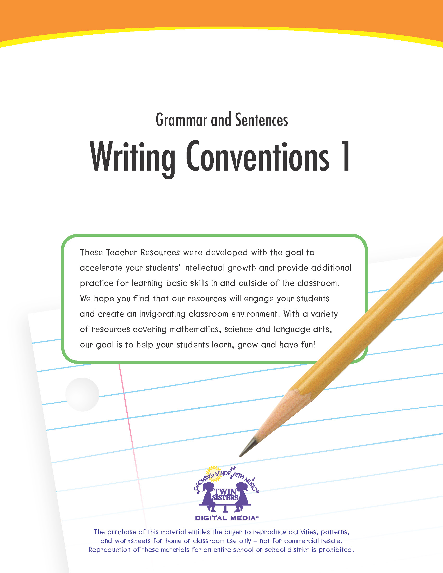 Grammar And Sentences Writing Conventions 1
