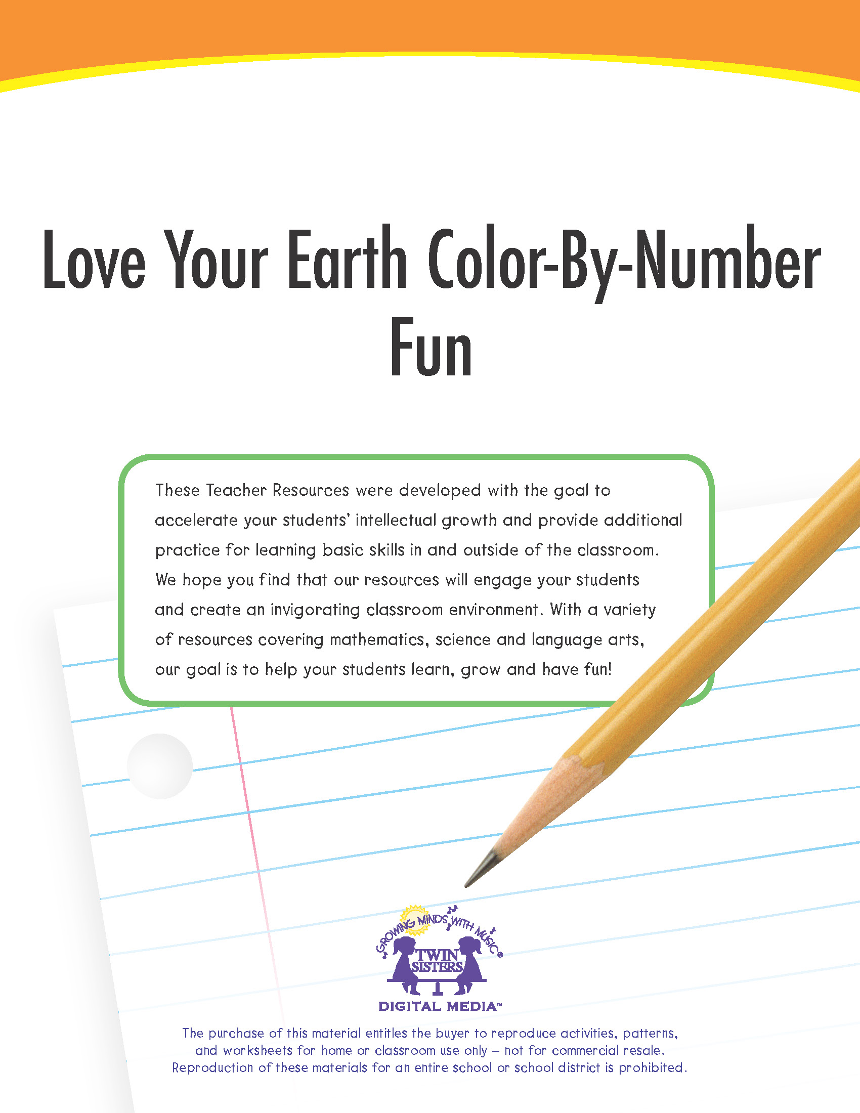 Love Your Earth Color By Number Fun