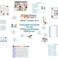 TH Sound Practice!  Winter themed /TH/ Articulation Packet