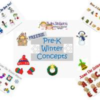 Freebie! Winter Themed Pre-K Concepts