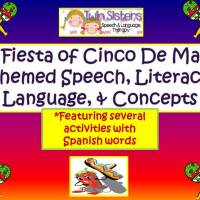 A GIVEAWAY of our Fiesta of Cinco De Mayo Language, Speech, Concepts & Literacy Packet!!