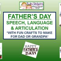 Father's Day Speech, Language, & Articulation Themed Unit With Crafts!