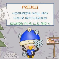 WINTERTIME ROLL & COLOR ARTICULATION FREEBIE!