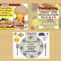 Thanksgiving Bundle: Language, Literacy, Articulation, Speech & Social Skills