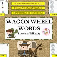 Wagon Wheel Words: Spelling, Reading, Articulation & Problem Solving Skills