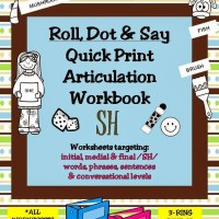 Roll, Dot & Say Quick Print Artic Workbook – /SH/ Sound