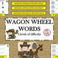 Freebie! Wagon Wheel Words For Advancing Literacy, Problem Solving & Articulation Skills
