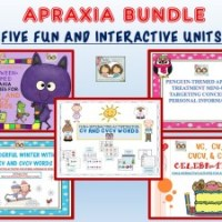 Fun & Interactive Verbal Apraxia Treatment Bundle!