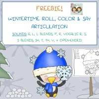 12-2014 TWIN SPEECH FREEBIE Wintertime Roll and Color Articulation
