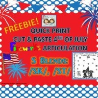 4TH OF JULY ARTICULATION – with a /S/ Blends FREEBIE!