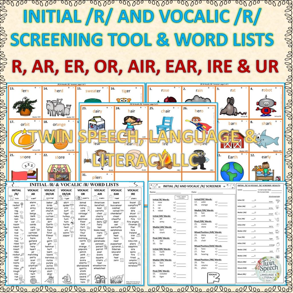 A Resource To Fix The Vocalic R S
