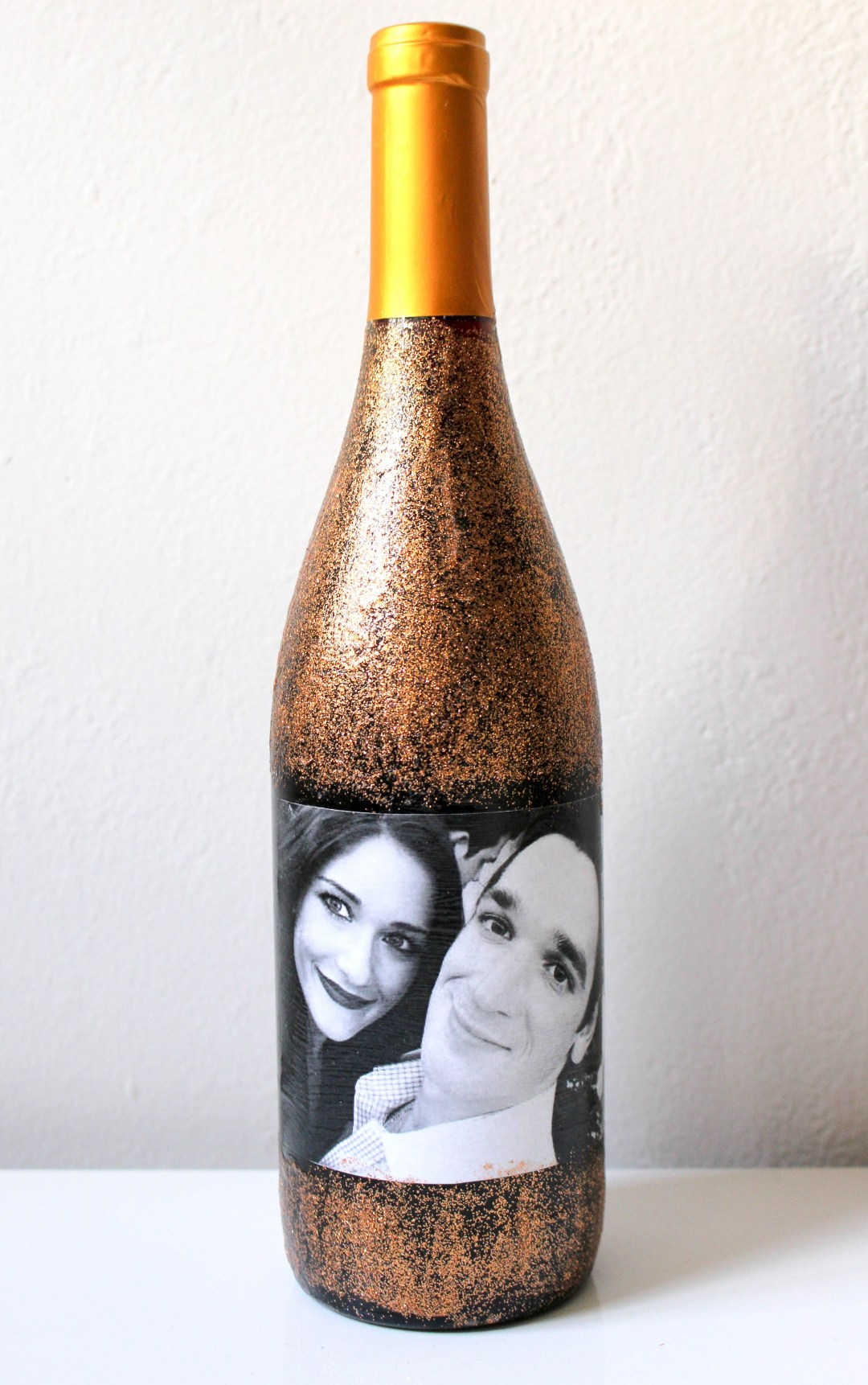 DIY Photo Collage Wine Label