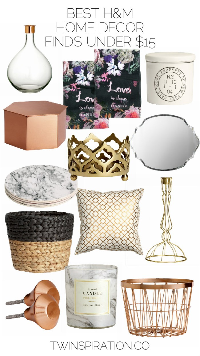 Best H&M Home Decor Finds Under $15 | Home Decor on a Budget by Twinspiration at http://twinspiration.co/hm-home-decor/