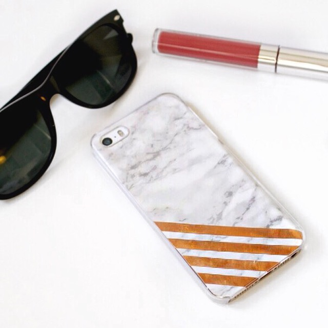 DIY Copper & Marble Phone Case