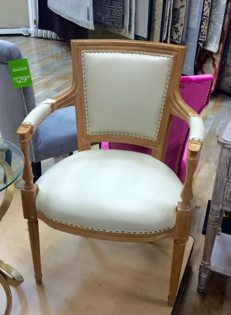 Cream and Wood Chair