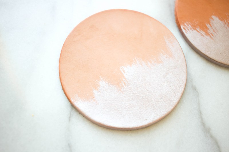 DIY Metallic Leather Coasters | Twinspiration