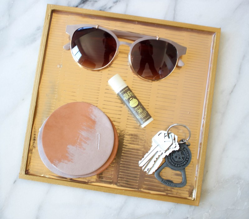 DIY Gilded Gold Tray | Twinspiration