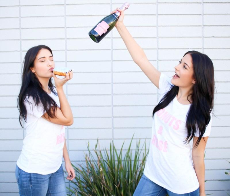 DIY Donuts & Rosé T-Shirt | Twinspiration