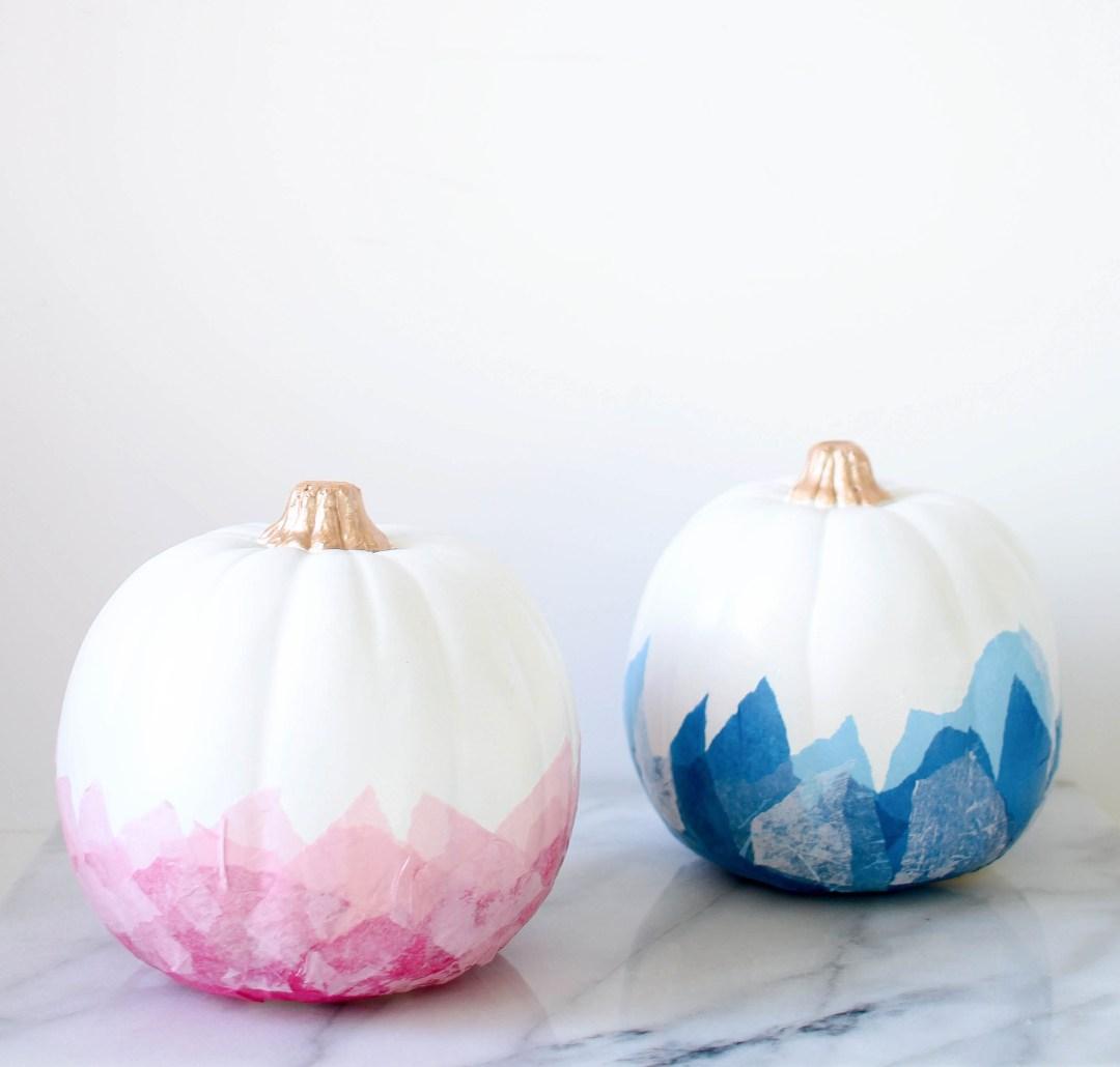 DIY Watercolor Pumpkins | Twinspiration