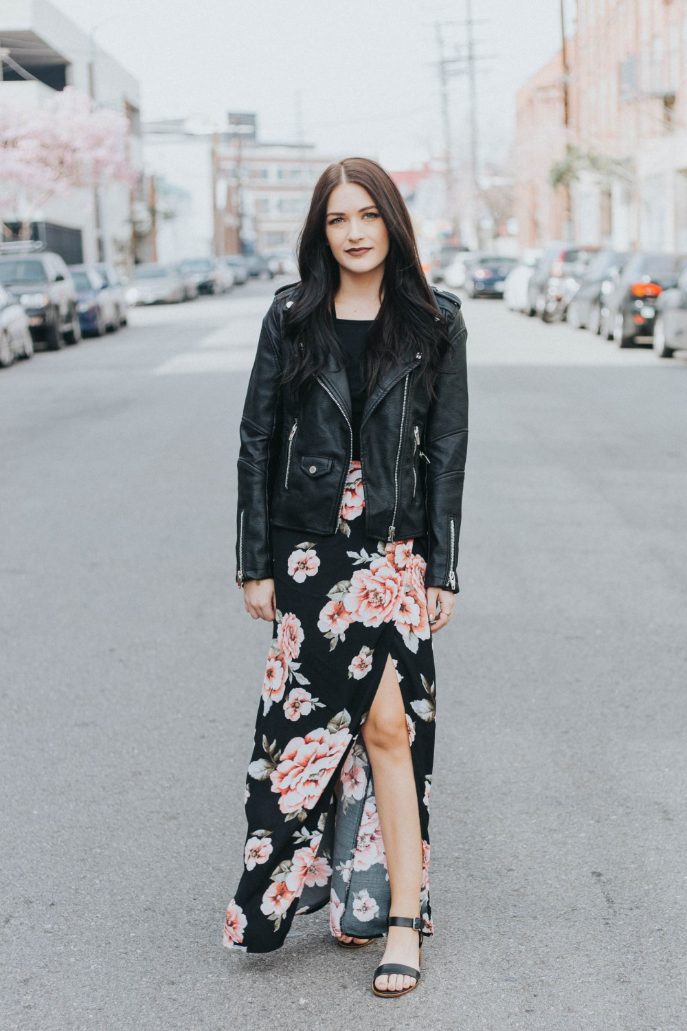 One Piece, Two Ways: Black Leather Jacket | Twinspiration
