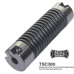 Twin Spring coupling TSC300 flexible coupling replaces industrial universal joints, servo, beam, bellows and elastomeric couplings