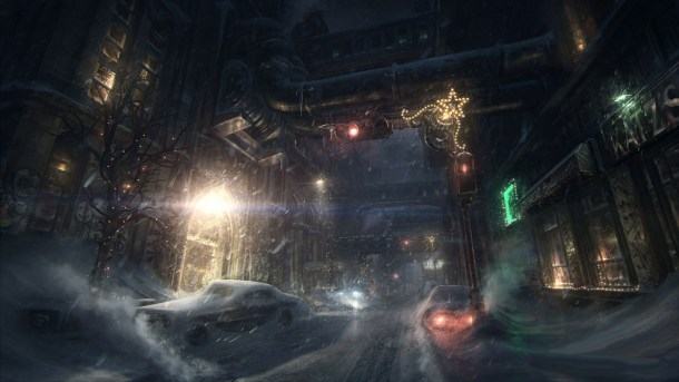 Sadly, not all the streets are as atmospheric as this concept art.